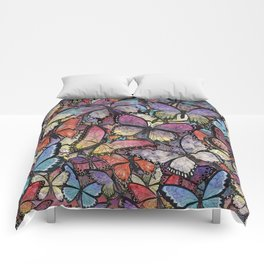 butterflies aflutter colorful version Comforters