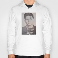 frank sinatra Hoodies featuring Frank Sinatra Mugshot (Front)  by All Surfaces Design