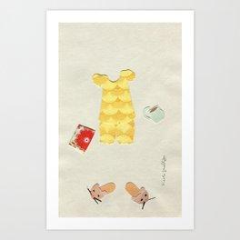 Pajama Outfit Art Print