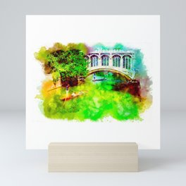 Gondola Ride On The River Mini Art Print