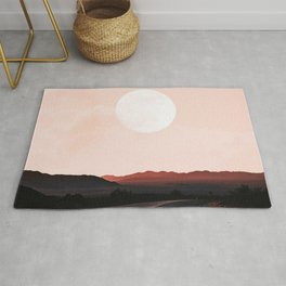 Desert Road Moon Rug