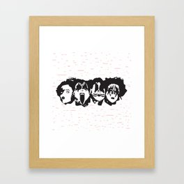 Kiss Loves You #2 Framed Art Print