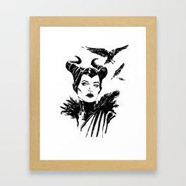 Maleficent Fan Art Angelina Jolie from Sleeping Beauty Framed Art Print