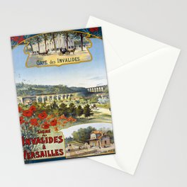 Ligne des Invalides a Versailles, French Travel Poster Stationery Cards
