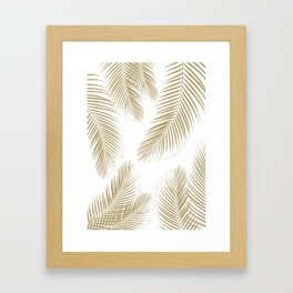 Palm Leaves - Gold Cali Vibes #3 #tropical #decor #art #society6 Framed Art Print