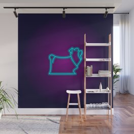 NEON YORKIE DOG Wall Mural
