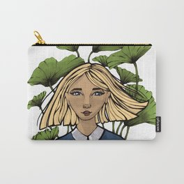 The girl with the Rhubarb Carry-All Pouch