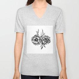 Two Inked Flowers Unisex V-Neck