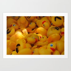 duck you. i mean DUCK YOU! DYAC Art Print