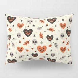 I Heart Fall Pattern Pillow Sham