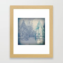 February Storm in Abstract Framed Art Print