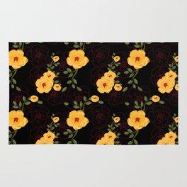 Yellow Rambler Roses Rug