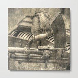 Vintage Bren Gun And Army Kit Metal Print