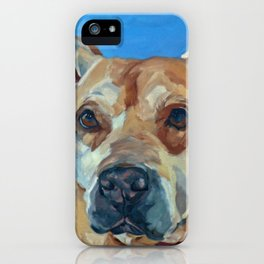 Happy the Bully Dog Portrait iPhone Case