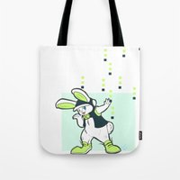 dmmd Tote Bags featuring Rodger Rodger! by Aspen Bear