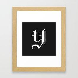 Letter Y Framed Art Print