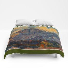 Vintage Yosemite National Park Comforters