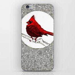A Red Cardinal iPhone Skin