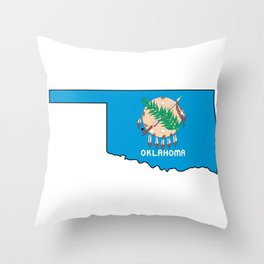 Oklahoma Love Throw Pillow