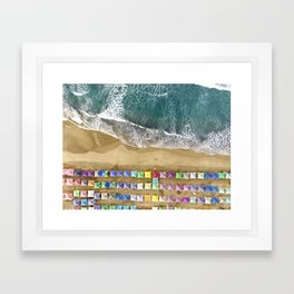 Aerial view of the beach in Mexico Framed Art Print
