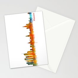 Moscow City Skyline art HQ v2 Stationery Cards