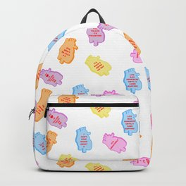 poe conversation hearts Backpack