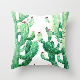 twin cactus Throw Pillow