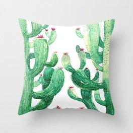 twin cactus Throw Pillow