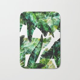 Green leaves of a banana. 2 Bath Mat