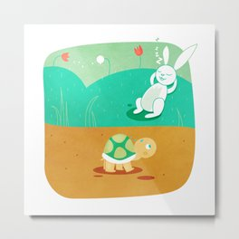 The Hare and the Tortoise Metal Print