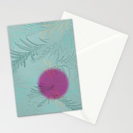 purple sun Stationery Cards