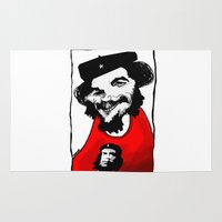 che Area & Throw Rugs featuring Capitalist Che by Hanif