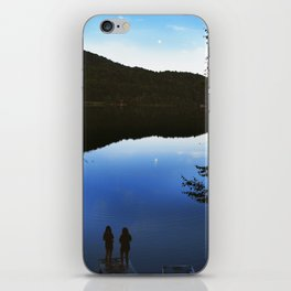 Camping by the Lake iPhone Skin