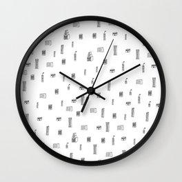 Urban City Buildings Wall Clock