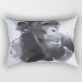 Animals and Art - young Chimp Rectangular Pillow