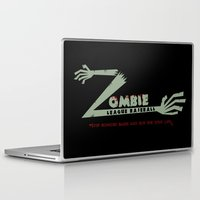 league Laptop & iPad Skins featuring Zombie League Baseball by Ryan W. Bradley