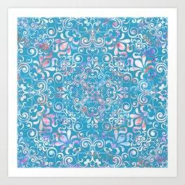Summer Sea Mandala Art Print
