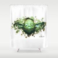 yoda Shower Curtains featuring Yoda by Rene Alberto