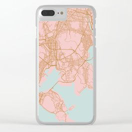 Busan map, South Korea Clear iPhone Case