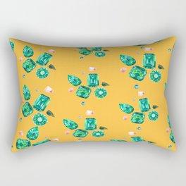 Emerald Mustard Gems Rectangular Pillow