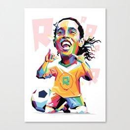 Ronaldinho Carricature WPAP Canvas Print