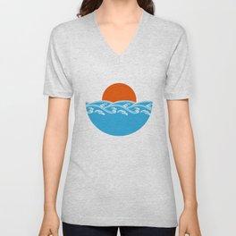 Japanese Tsunami  Unisex V-Neck