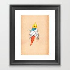 Ice king as an ice cream  Framed Art Print