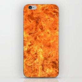 fire wall iPhone Skin