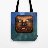 chewbacca Tote Bags featuring Chewbacca by Michael Flarup