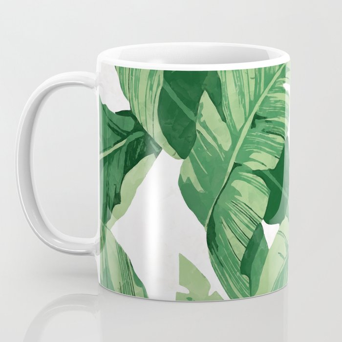 Tropical banana leaves IV Coffee Mug