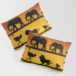 Safari sunset Pillow Sham