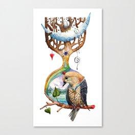 Sand Clock Canvas Print