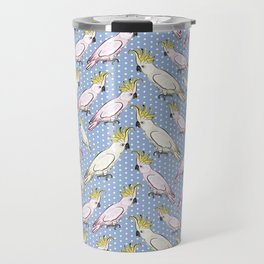Cockatoo Pattern - Australian Native Birds Travel Mug