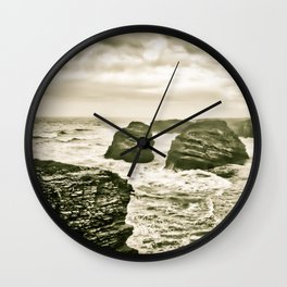 The beach of the cathedrals Wall Clock